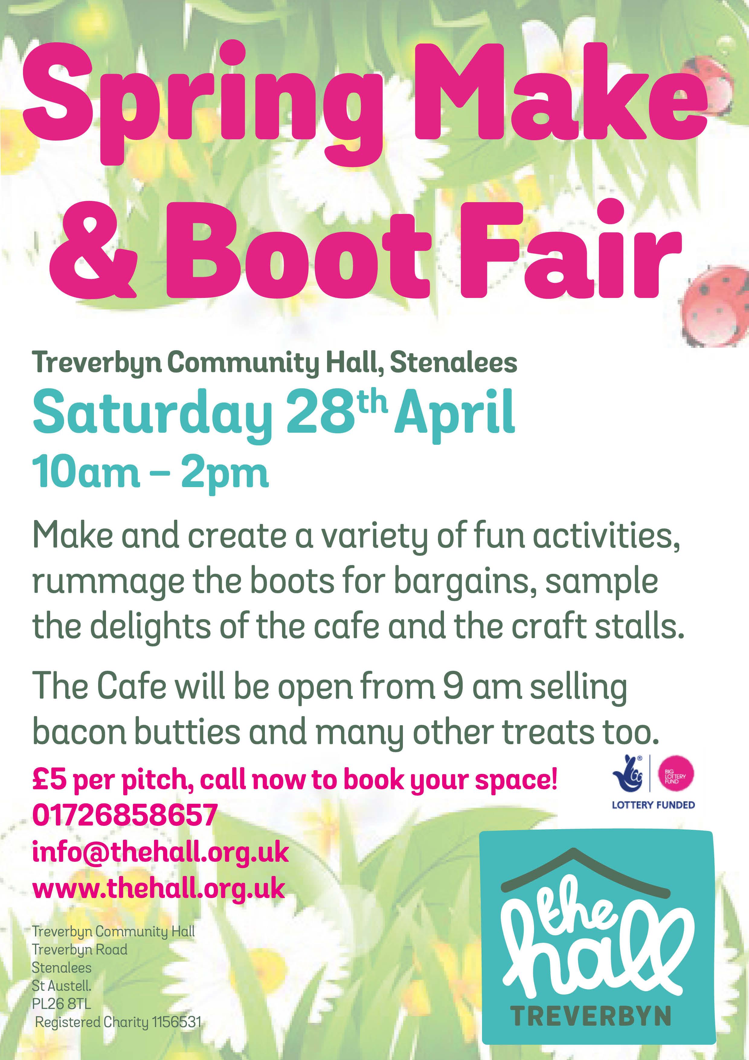 Spring make & boot fair apr 18