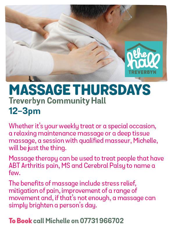 Massage thursdays mar 19