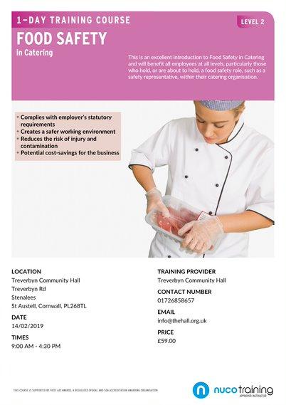 Food Safety course - Treverbyn Community Hall