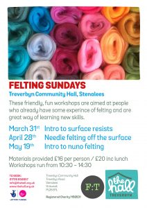 Felting sundays spring 2019