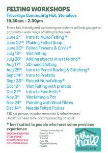 Felting workshops 2019