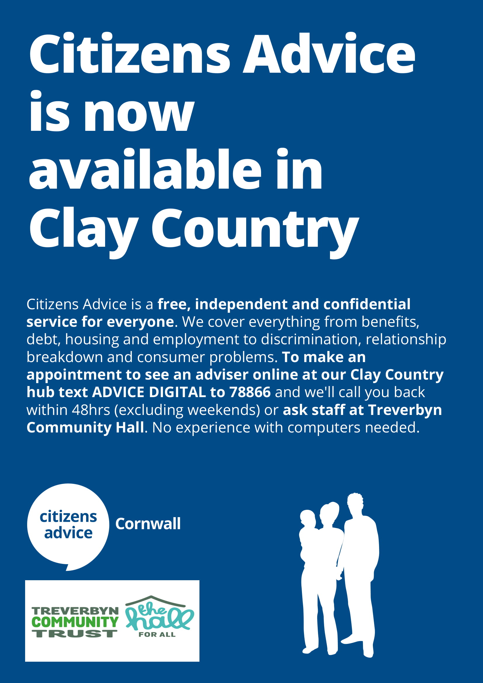 Remote advice service clay country poster 1